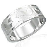 Stainless Steel Sea Wave Ring 200