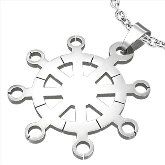 Stainless Steel Ship Wheel Pendant 100
