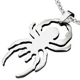 Stainless Steel Spider Pendant 211