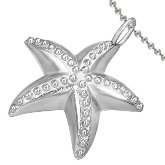 Stainless Steel Starfish Necklace 403