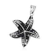 Stainless Steel Gradient CZ Starfish Pendant 181