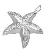 Stainless Steel Starfish Pendant 403
