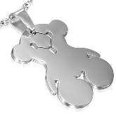 Stainless Steel Teddy Bear Pendant 542