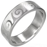 Stainless Steel Tidal Wave Ring 680