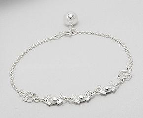 Sterling Silver Crab Bracelet 660