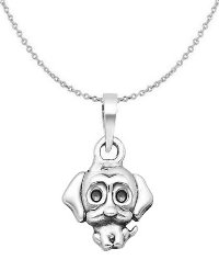 Sterling Silver Dog Necklace 6300