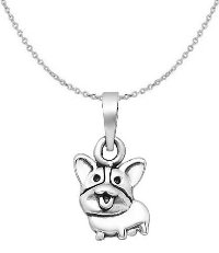 Sterling Silver Dog Necklace 6399