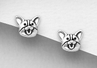 Sterling Silver Dog Studs 6394