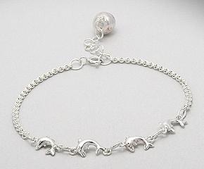 Sterling Silver Dolphin Bracelet 139
