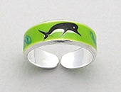 Dolphin Sterling Silver Toe Ring 392