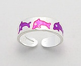 Dolphin Sterling Silver Toe Ring 803 A