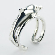 Sterling Silver Dolphin XL Toe Ring PP 494