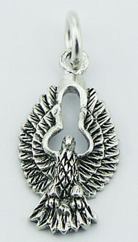 Sterling Silver Eagle Pendant PP710