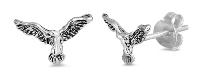 Sterling Silver Eagle Stud Earrings SIE0841
