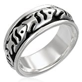 Sterling Silver Fish Ring 290