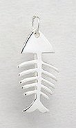 Sterling Silver Fishbone Pendant 817