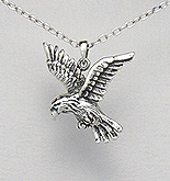 Sterling Silver Hawk Necklace 324