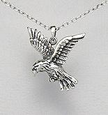 Sterling Silver Hawk Necklace 324