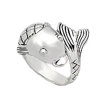 Sterling Silver Koi Wrap Around Ring 251