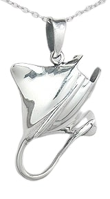 Manta Ray Sterling Silver Necklace PP 900