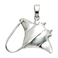 Manta Ray Sterling Silver Pendant PP 900