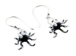 Sterling Silver Octopus Earrings PE 437 - small