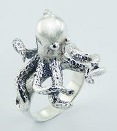 Sterling Silver Octopus Ring PR 718