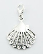 Sterling Silver Scallop Clip on Charm PP 352