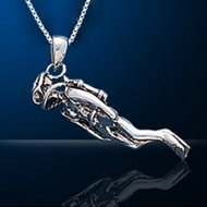 Sterling Silver Scuba Diver Necklace SDP 010