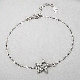 Sterling Silver Sea Star CZ Bracelet 260