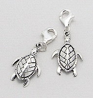 Sterling Silver Sea Turtle Clip on Charm 738