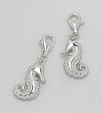 Sterling Silver Seahorse Clip Charm 839