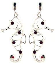 Seahorse Sterling Silver Post Earrings M360