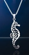 Seahorse Sterling Silver Necklace