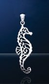 Seahorse Sterling Silver Pendant PP 460
