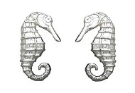 Seahorse Sterling Silver Post Earrings 378