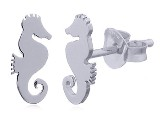 Sterling Silver Seahorse Stud Earrings PE 12681