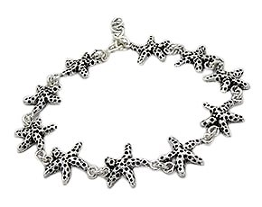 Sterling Silver Star fish Bracelet 138