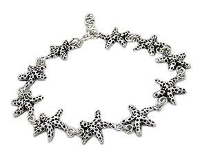 Sterling Silver Star fish Bracelet 138