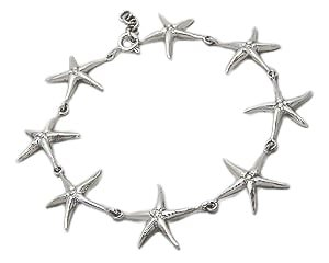 Sterling Silver Starfish Bracelet 896