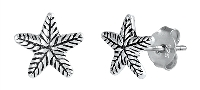 Sterling Silver Starfish Stud Earrings SIE1061