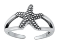 Sterling Silver Starfish Toe Ring SITR1480