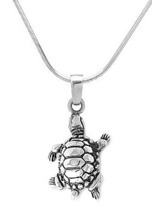 Sterling Silver Terrapin Necklace SIP064