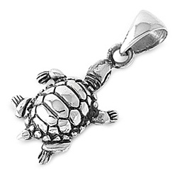 Sterling Silver Terrapin Pendant SIP064