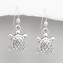 Sterling Silver Tortoise Earrings