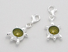 Sterling Silver Turtle Clip on Charm 214