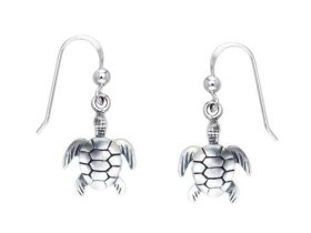 Sea Turtle Sterling Silver Earrings  PP 701