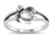 Sterling Silver Sea Turtle Ring SIR724