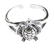 Sterling Silver Sea Turtle Toe Ring PP 730