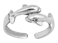 Sterling Silver Five Dolphins Toe Ring SITR6950